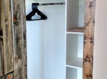 cabin rustic closet