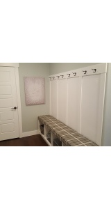 Padded Bench In Mudroom