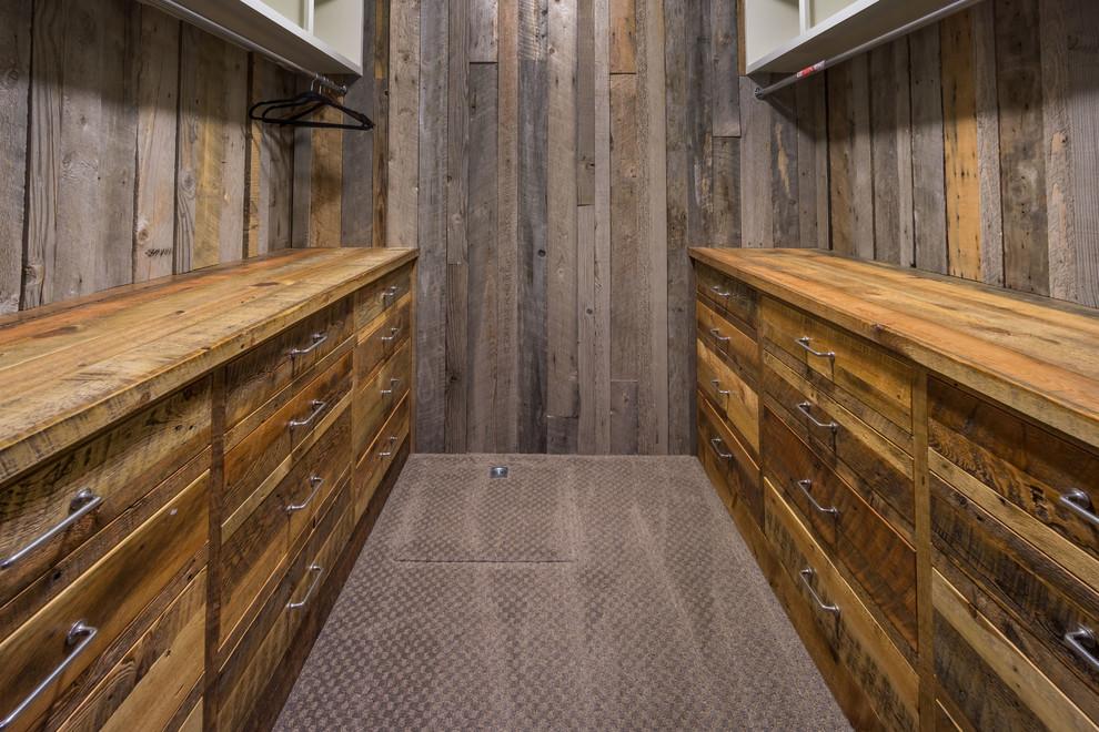 barn wood rustic closet