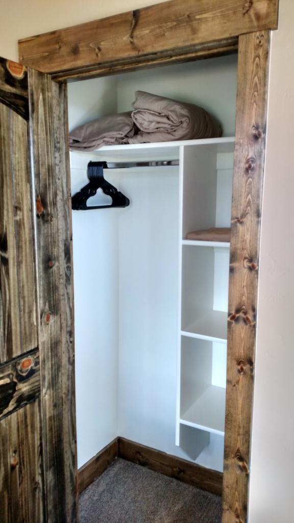 small rustic closet