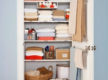 Small nice looking linen closet